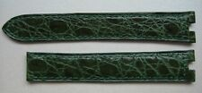 GENUINE CARTIER WATCH STRAP BAND SHINY GREEN ALLIGATOR LEATHER 16 x 14 mm NEW