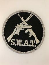 U.S. Police SWAT Anti Terrorist Cloth Sleeve Patch (Special Weapons and Tactics)