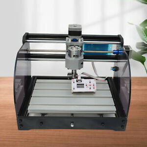 3018 Pro CNC Router + E-Stop Laser Engraver Cutter with Offline Controller Wood