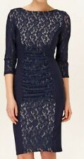 BNWT Phase Eight /8 Navy Stephania  Lace Dress Size 12