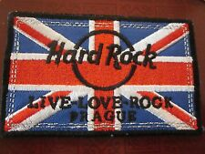 "HARD ROCK CAFE PATCH PRAGUE ""1"" IRON ON SOUVENIR LIVE LOVE ROCK COLLECTIBLE #89"