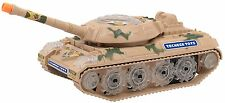 Powered Military Tank Toy- Flashing Lights, Blasting Sounds, Moves Around