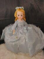 "Madame Alexander Doll 1548 Cinderella Vintage Doll 14"" blonde blue dress sleep"