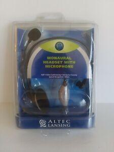 Altec Lansing Monaural Headset Microphone AHS212
