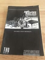 Super Star Wars Empire Strikes Back Nintendo SNES Ins Manual Booklet Only