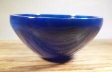 "LARGE 3"" NATURAL BLUE ONYX STONE HANDCARVED GEMSTONE BOWL [2]"