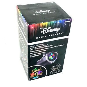 Disney Magic Holiday Mickey Mouse Jingle Bell Lights LED Projection Spotlight