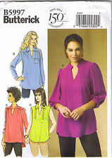 Easy Loose Fit Pullover Tunics Tops Butterick Sewing Pattern Plus Sz 18 20 22 24