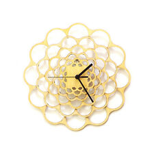 Coral - natural wood modern handmade wall clock, non ticking, by ardeola