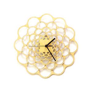 "Coral - 11½"" natural wood modern handmade wall clock, non ticking, by ardeola"