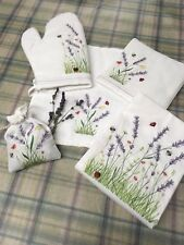 Whitbourne Farm Lavender embroidered hand towel