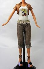 My Scene Barbie Muñeca Traje Ropa Bolero Jacket Crop Pantalones Top Zapatos