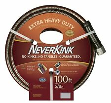 Never Kink Garden Hose 100' No Tangle Heavy Duty Water Yard Lawn Plant Outdoors