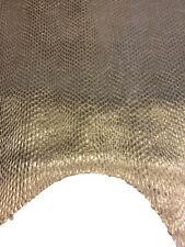 SALE Gold Lamb Skin Leather Metallic Hides Thin Snakeskin Embossed Fabric FS778