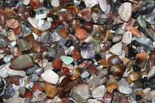 "Tumbled Rock Mix 1/2Lb Natural color Gemstones Stones Reiki Healing ""OLD STOCK"""