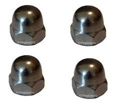 Chrome Plated M10 x 1.25 pitch Dome Nuts (x4 nuts) - Yamaha RD250 RD400