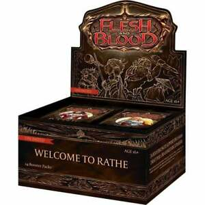 Flesh and Blood TCG Welcome to Rathe Booster Box   Unlimited   24 Booster Packs