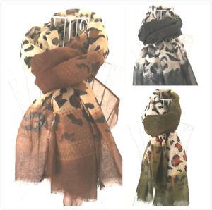 Women Leopard Print Scarf Ladies Animal Print Shawl Girls Fashion Warp Soft Gift