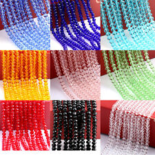 Wholesale Rondelle Faceted Crystal Glass Spacer Beads Finding 4/6/8/10mm DIY