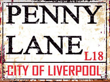 PENNY LANE LIVERPOOL STREET METAL SIGN VINTAGE STYLE 8x10in20x25cm pub bar shop