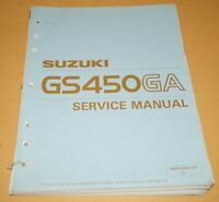1990 Suzuki GS450GA Motorcycle Factory Service Shop Manual Repair Book