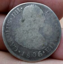 1806-Mo TH 4 REALES SILVER COIN MEXICO RARE