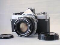 *Mint* Olympus OM-2n 35mm SLR Film Camera Auto S 50mm F/1.8 Lens From Japan