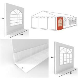 Seitenteil Ersatz Seitenwand 2x2m PVC für Partyzelt Pavillon mit Fenster weiß