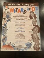 1939 OVER THE RAINBOW Sheet Music THE WIZARD OF OZ Judy Garland by Arlen Harburg