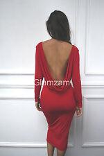 Calf Length Cowl Neck Long Sleeve Dresses for Women