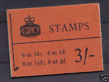 M19g. 3s booklet with graphite lines. Scarce! Cat £325.