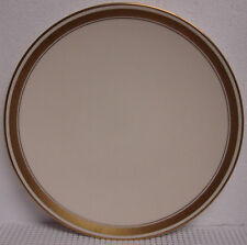 "Flintridge AMBASSADOR GOLD COUPE wide GOLD BAND w/VERGE 8-5/8"" SALAD Plate (s)"