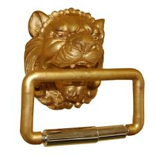 Hickory Manor Lion Head Toilet Paper Holder/Gold Leaf - HM871TPGL