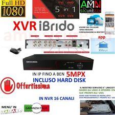 DVR NVR IBRIDO NVR AHD TVI CVI 8 CH CANALI FULL HD IP CLOUD 3G WIFI 5mpx HD 500