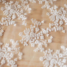 Lace Floral Embroidery Fabric Bridal Wedding Dress Material Mesh Costume Decor