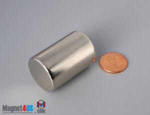 "25mmx 50mm 1""x 2"" N45 Powerful Rare Earth Neodymium Cylinder Magnets"