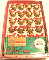 Vintage 24 Woolworth Christmas Bell Ornaments in original box