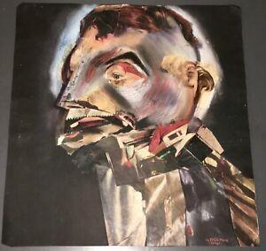"1966 UROS TOCHKOVITCH Orig. Surreal Collage/Painting """"DEMONIC PORTRAIT"" + COA!"