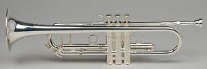 TEMPEST Bb SILVER PLATED TRUMPET B FLAT GABRIEL MODEL HAND LAPPED VALVES