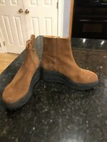 Free People Brown Suede Platform Boots, Size 41 (10), New!