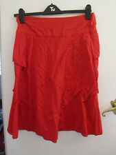 Monsoon Red Cotton A Line Skirt in Size 12