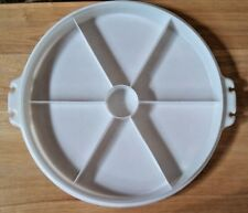 New listing Tupperware Clear Vintage Divided Serving Tray 405 Bottom Only / No Lid