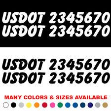 Set of 2 Custom Usdot Decals Us Dot Number Sticker Commercial Pick up Truck Van