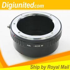 Nikon F mount AI lens to Canon EOS M EF-M mount Mirrorless camera adapter ring
