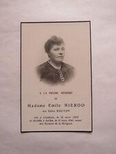 IMAGE MORTUAIRE : Mme Emile MIEROO, née Éloïse MOUTON - 1941