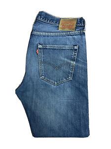 Original Levi's 501 ® Classic Straight Leg Blue Denim Jeans W36 L30 ES 8035