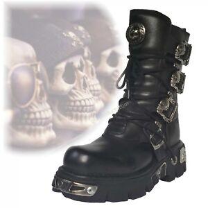 New Rock 391 Boots Gothic Streetfighter Style Heavy Metal Darkware Darkwear Vamp