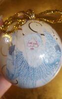 Vintage Paper Mache Ornament Santa Claus Christmas Xmas tree Holiday Decoration
