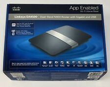 New OB Cisco Linksys N900 EA4500 4-Port Gigabit Wireless Dual Band WiFi Router