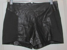 JACK Black Faux Leather Daisy Duke Hot Pants Women's Size 0 Zipper Shorts